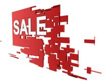 Sale on wall Royalty Free Stock Photo