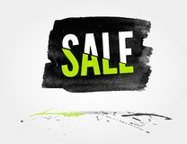 Sale watercolor banner with splashes Royalty Free Stock Images