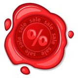 Sale wax seal Stock Photo