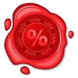 Sale wax seal. EPS 10 vector illustration Stock Photo