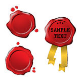 Sale wax stamp - set Stock Photos