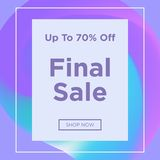 Sale web banners template. For special offers advertisement. Trendy colors in a modern material design style. New arrivals and final saleconcept for internet Stock Photo