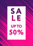 Stock 500x500 Material Design. Sale web banners template for special offers advertisement. Frame with the volume realistic balls. Trendy colors in a modern Royalty Free Stock Photography