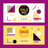 Sale web banners template Stock Image