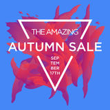 Autumn Sale copy. Sale web banners template for special offers advertisement. Trendy colors in a modern material design style. New arrivals, new collection Royalty Free Stock Image