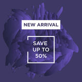 Autumn Sale copy. Sale web banners template for special offers advertisement. Trendy colors in a modern material design style. New arrivals concept for internet Royalty Free Stock Photography