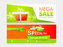 Sale web header or banner for Christmas. Stock Image