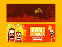 Sale web header or banner for Diwali. Stock Photography
