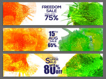 Sale web header or banner for Indian Independence Day. Stock Photography