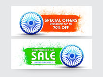 Sale Web Header or Banner for Indian Independence Day. Sale Website Header or Banner set, Special Offers Sale, Discount upto 70%, Limited Time Sale, Sale Royalty Free Stock Photography