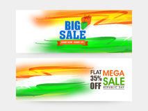 Sale web header or banner for Indian Republic Day. Royalty Free Stock Photography