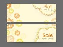 Sale web header or banner set. Royalty Free Stock Images
