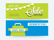 Sale web header or banner set. Royalty Free Stock Photography
