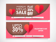 Sale web header or banner for Valentine's Day. Royalty Free Stock Images