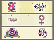 Sale web header or banner for Women's Day. Stock Photography