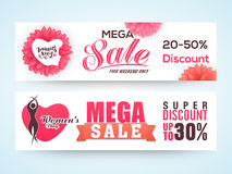 Sale web header or banner for Women's Day. Royalty Free Stock Photography