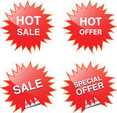Sale web and print elements. Vector illustration royalty free illustration