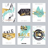 Sale website banners web template collection. Can be used for mo. Bile website banners, web design, posters, email and newsletter designs Royalty Free Stock Images
