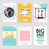 Sale website banners web template collection. Can be used for mo. Bile website banners, web design, posters, email and newsletter designs Stock Photo