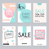 Sale website banners web template collection. Can be used for mo. Bile website banners, web design, posters, email and newsletter designs Royalty Free Stock Photography