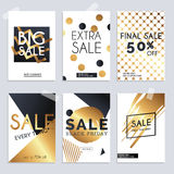 Sale website banners web template collection. Can be used for mo. Bile website banners, web design, posters, email and newsletter designs Royalty Free Stock Photos