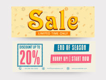 Sale website header or banner. Royalty Free Stock Photography