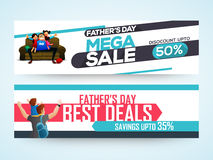 Sale website header or banner for Father's Day. Stock Photos