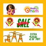 Sale website header or banner for Onam. Royalty Free Stock Photo
