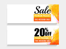 Sale website header or banner set. Royalty Free Stock Images