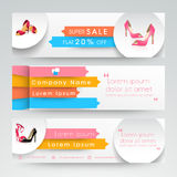 Sale website header or banner set. Royalty Free Stock Photography