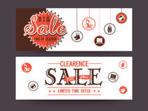 Sale website header or banner. Stock Photos