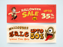 Sale website header for Halloween Party. Royalty Free Stock Photo