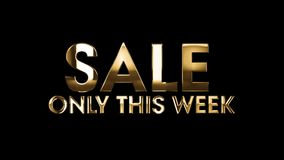 SALE only this week - text animation stock illustration