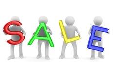Sale on white background Stock Photos