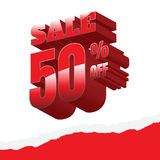 Sale. white background and with a discount of 50 percent, vector. Illustration Royalty Free Illustration