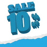 Sale. white background and with a discount of 10 percent, vector. Illustration Royalty Free Stock Photo