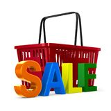 Sale on white background. isolated 3d illustration Royalty Free Stock Photos