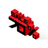 Sale 70% on white background. Vector illustration in 3D isometric style Stock Images
