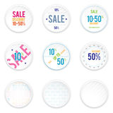 Sale White Shadowy Labels Royalty Free Stock Photos