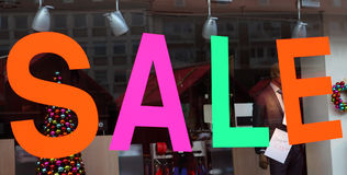 Sale window display Stock Photography