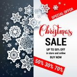 Sale winter discount Stock Photos