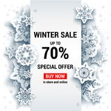 Sale winter template Stock Image