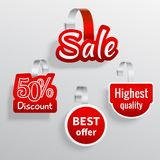 Sale wobbler set Stock Photo