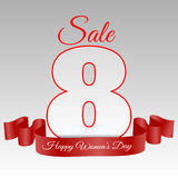 Sale Woman day 8 march card  eps 10 Royalty Free Stock Photography