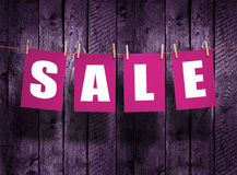 SALE on wood background Royalty Free Stock Photography