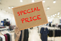 Sale of wood at the shopping mall Royalty Free Stock Photo