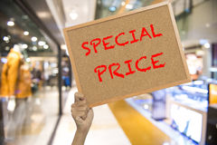 Sale of wood at the shopping mall Royalty Free Stock Image