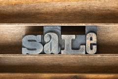 Sale wooden tray Royalty Free Stock Image