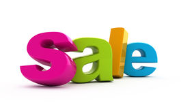 Sale word. Sale word single from three-dimensional letters Stock Image