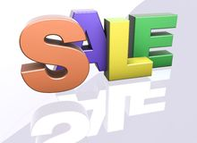 Sale word announcement concept Stock Photos